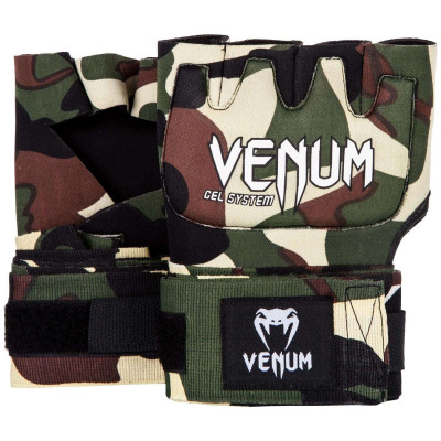 Швидкі гелеві бинти Venum Kontact Gel Glove Wraps Forest Сamo (01850) фото 1