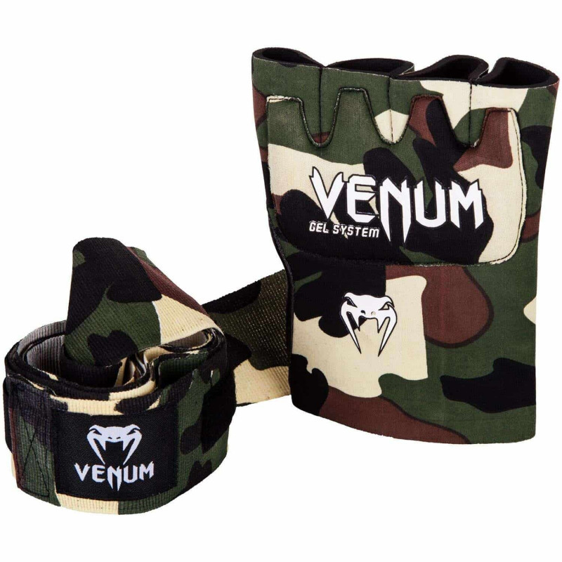 Швидкі гелеві бинти Venum Kontact Gel Glove Wraps Forest Сamo (01850) фото 4