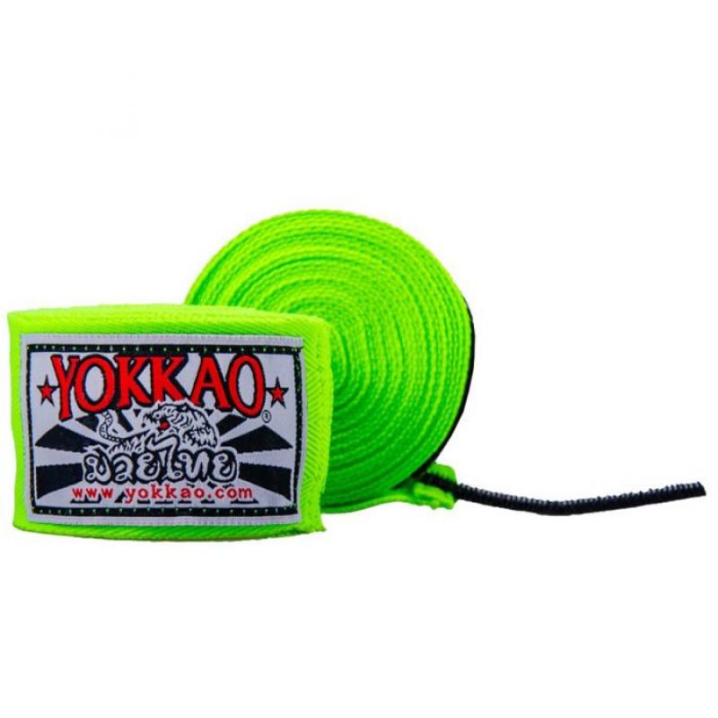 Бинти YOKKAO Muay Thai neon green (01660) фото 1