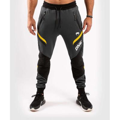 Штани Venum ONE FC Impact Joggers Grey / Yellow (02057) фото 1