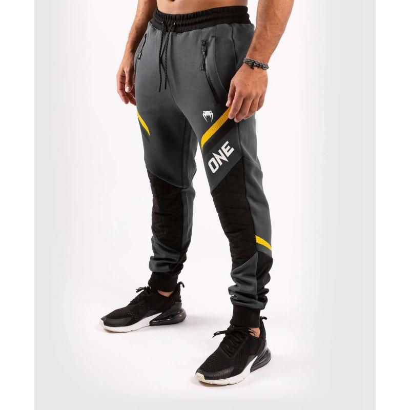 Штани Venum ONE FC Impact Joggers Grey / Yellow (02057) фото 3