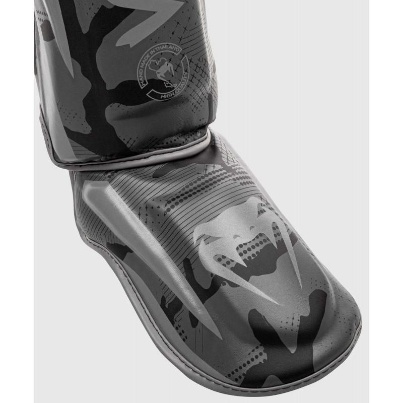 Защита ног Venum Elite Shin Guards Black/Dark camo (01997) фото 4
