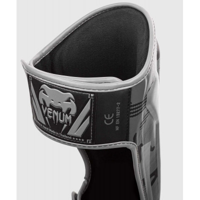 Защита ног Venum Elite Shin Guards Black/Dark camo (01997) фото 2
