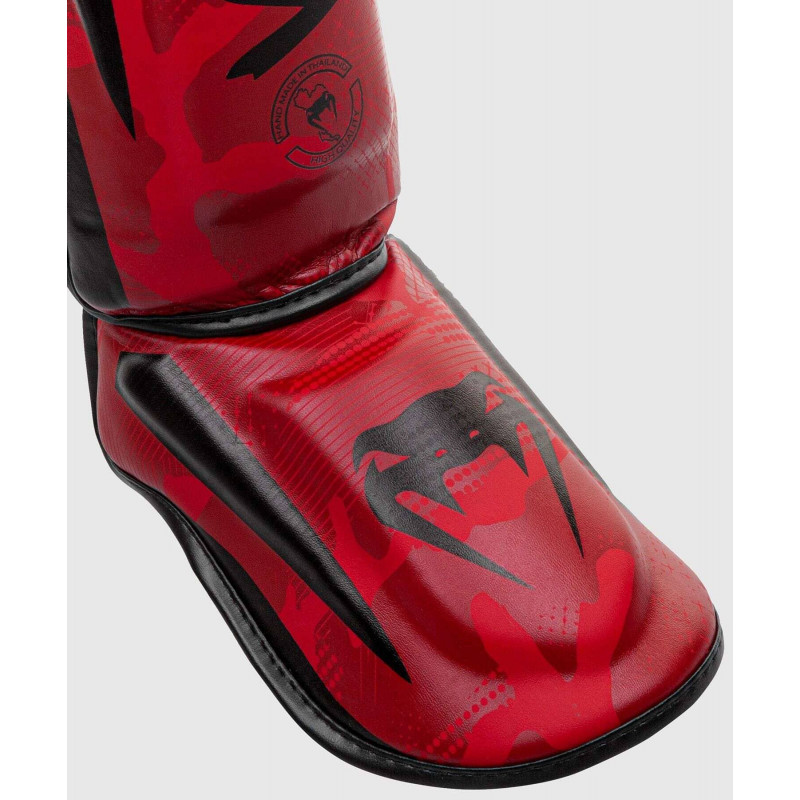 Защита ног Venum Elite Shin Guards Red Camo (01998) фото 2