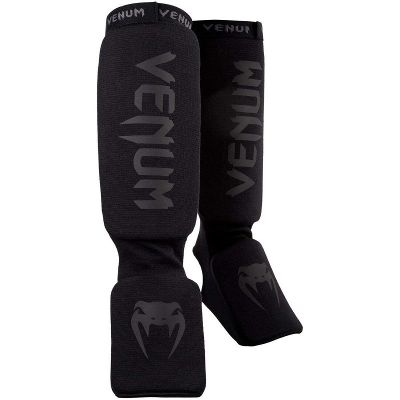 Защита голеностопа Venum Kontact Shin guards Черные (01863) фото 1