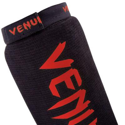 Щитки Venum Kontact Shin Guards Чёрные/Красный (01493) фото 4