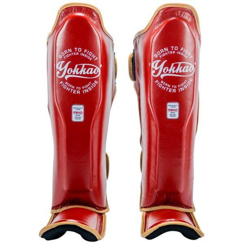 Защита YOKKAO голеностопа Vintage Shin guards red (01773) фото 1