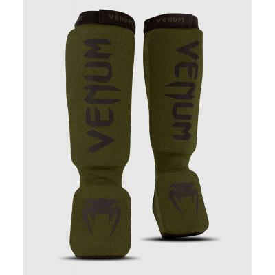 Защита ног Venum Kontact Shin Guards Khaki/Black (02075) фото 1