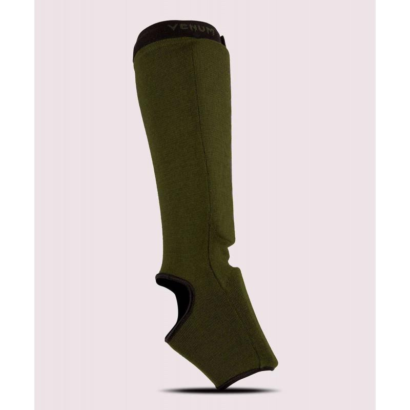 Защита ног Venum Kontact Shin Guards Khaki/Black (02075) фото 2