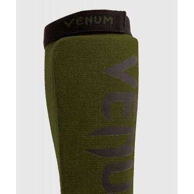 Защита ног Venum Kontact Shin Guards Khaki/Black (02075) фото 4