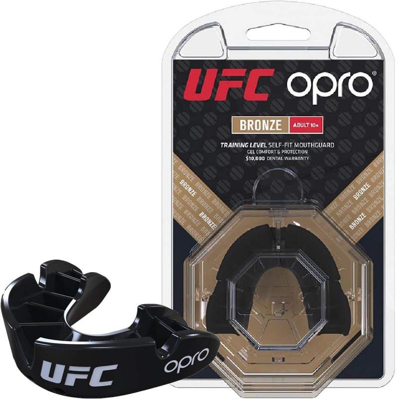 Капа OPRO Бронзова голограма UFC Чорна (01604) фото 1