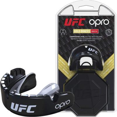 Капа OPRO Gold Braces UFC Hologram Black M/S (01611) фото 1
