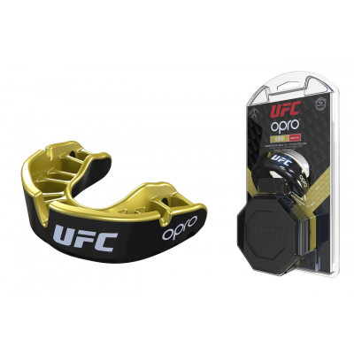 Капа OPRO Gold UFC Hologram Black Metal/Gold (01612) фото 1