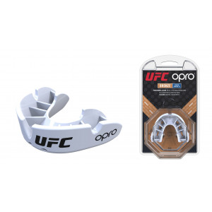 Капа OPRO Junior Bronze UFC Hologram White