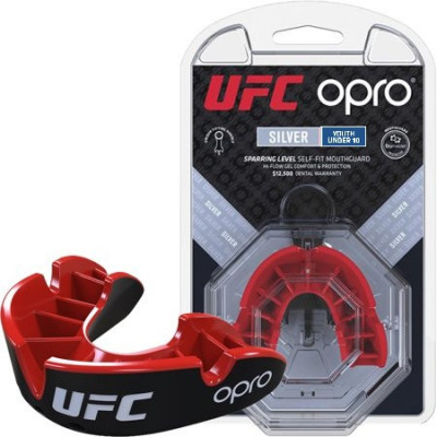 Капа OPRO Junior Silver UFC Hologram Black/Red (01609) фото 1