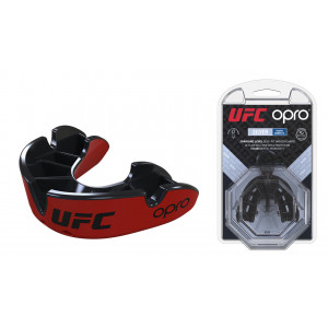 Капа OPRO Junior Silver UFC Hologram Red/Black