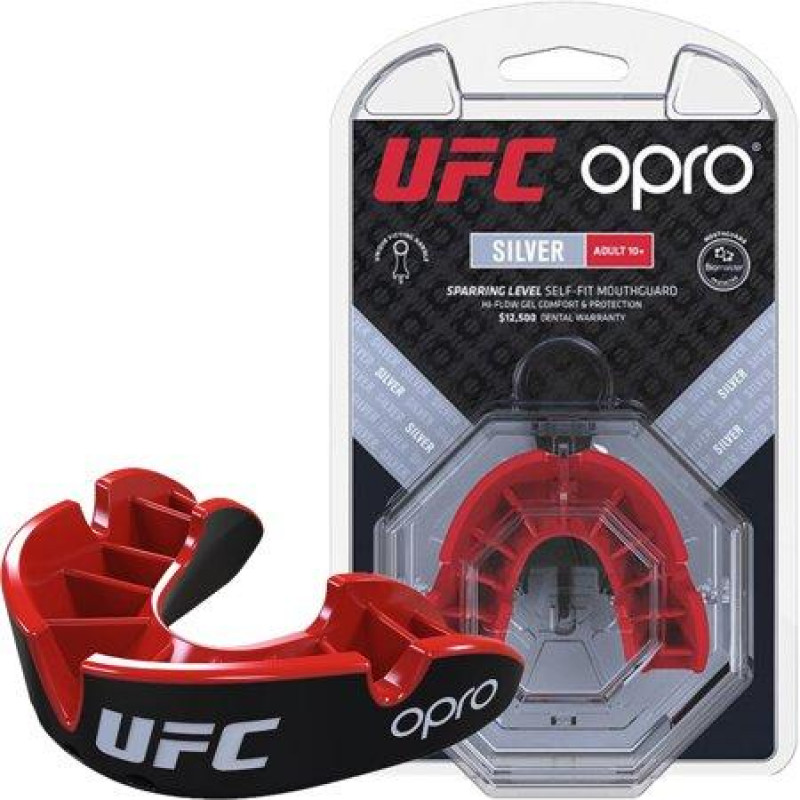 Капа OPRO Silver UFC Hologram Black/Red (01607) фото 1