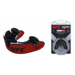 Капа OPRO Silver UFC Hologram Red/Black