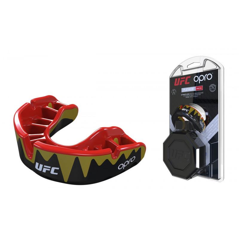 Капа OPRO Platinum UFC Hologram Fangz-Black M/Red (01753) фото 1