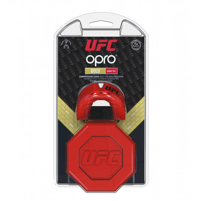 Капа OPRO Gold UFC Hologram Red Metal/Silver (01613) фото 4