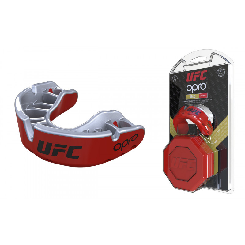 Капа OPRO Gold UFC Hologram Red Metal/Silver (01613) фото 5
