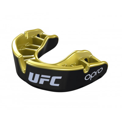 Капа OPRO Gold UFC Hologram Black Metal/Gold (01612) фото 3
