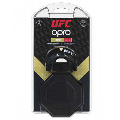 Капа OPRO Gold UFC Hologram Black Metal/Gold (01612) фото 7