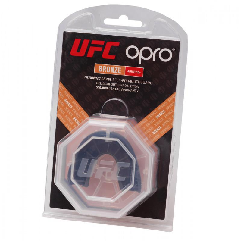 Капа OPRO Бронзова голограма UFC Чорна (01604) фото 6