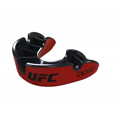 Капа OPRO Silver UFC Hologram Red/Black (01608) фото 7