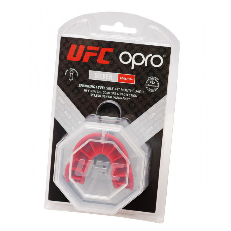 Капа OPRO Silver UFC Hologram Black/Red (01607) фото 4