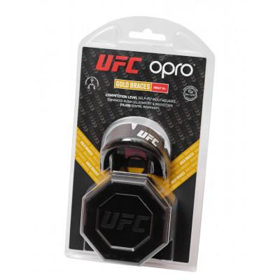 Капа OPRO Gold Braces UFC Hologram Black M/S (01611) фото 3