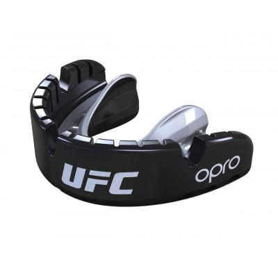 Капа OPRO Gold Braces UFC Hologram Black M/S (01611) фото 5