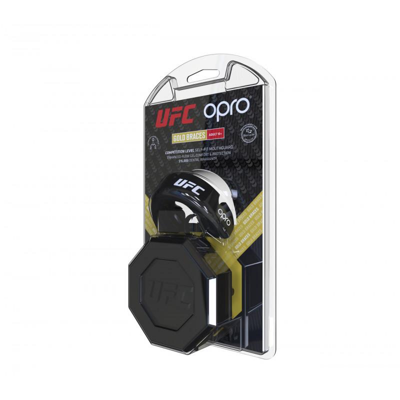 Капа OPRO Gold Braces UFC Hologram Black M/S (01611) фото 4
