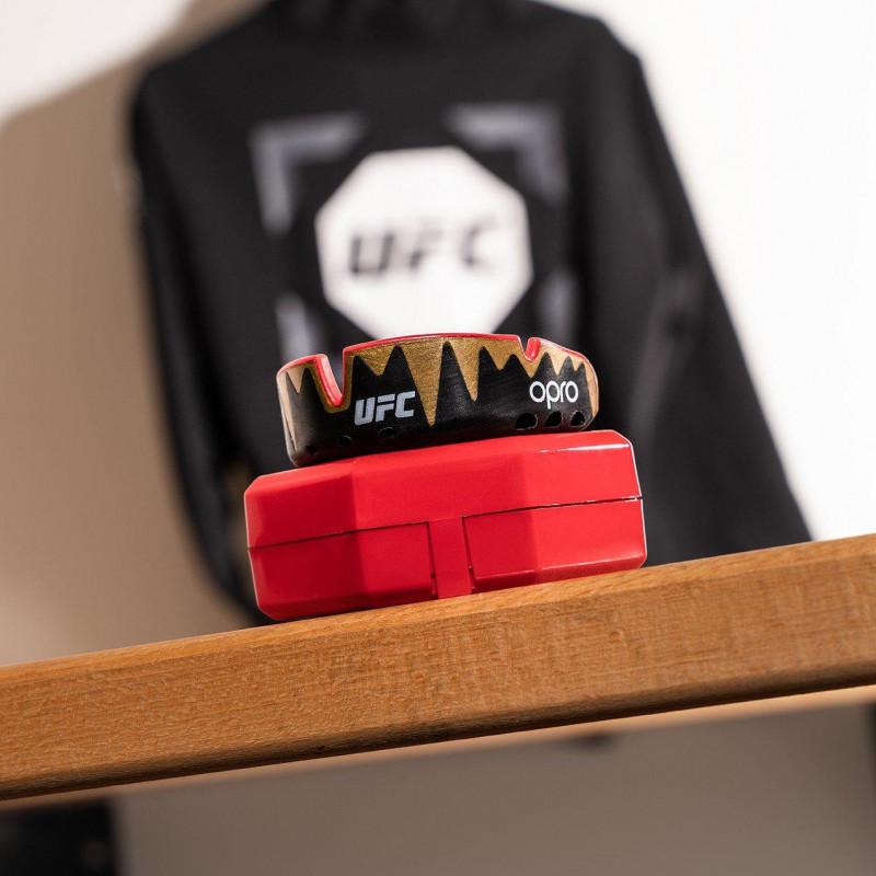 Капа OPRO Platinum UFC Hologram Fangz-Black M/Red (01753) фото 7