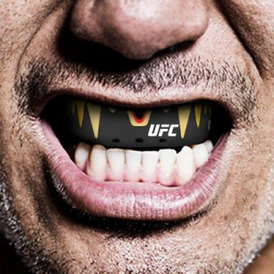 Капа OPRO Platinum UFC Hologram Fangz-Black M/Red (01753) фото 8