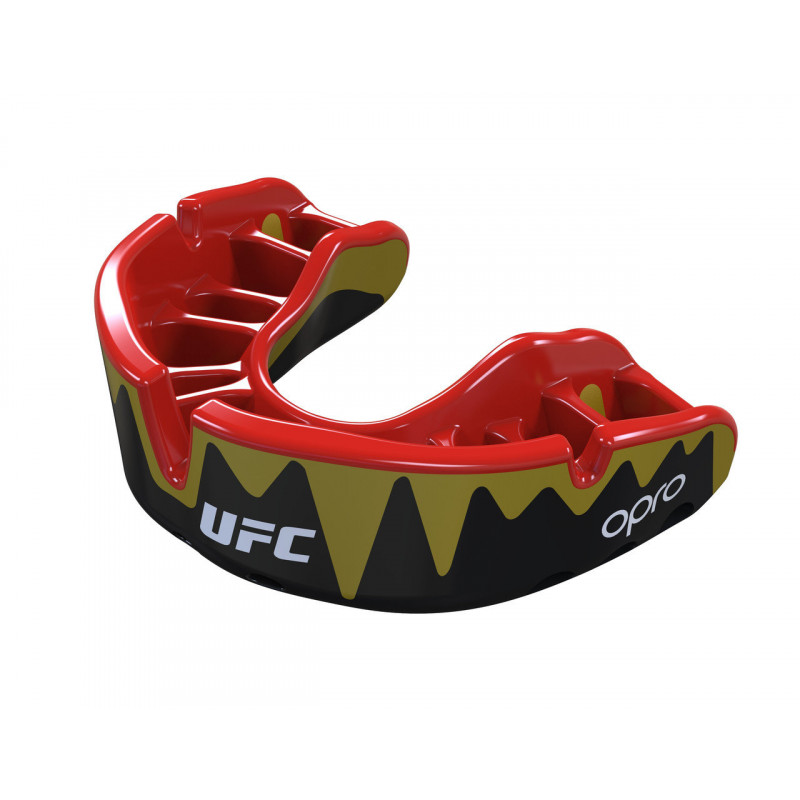 Капа OPRO Platinum UFC Hologram Fangz-Black M/Red (01753) фото 3