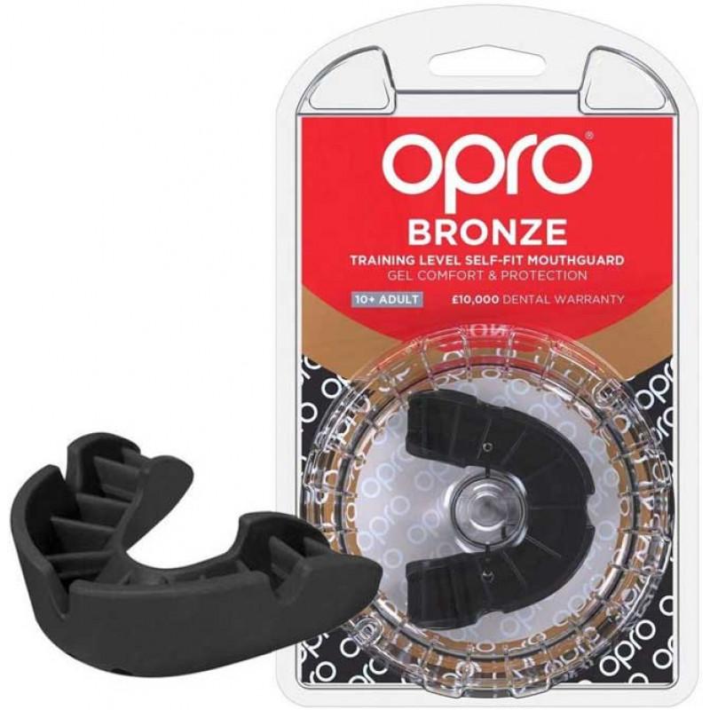 Боксёрская капа OPRO Bronze Black (01793) фото 1