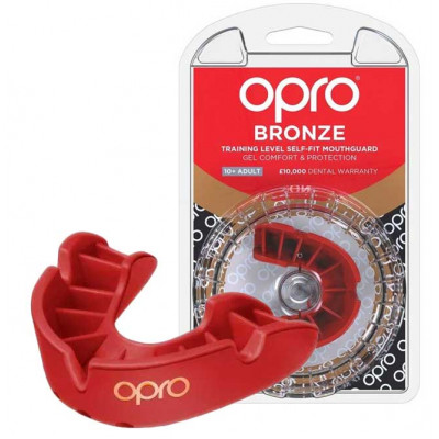Боксёрская капа OPRO Bronze Red (01794)