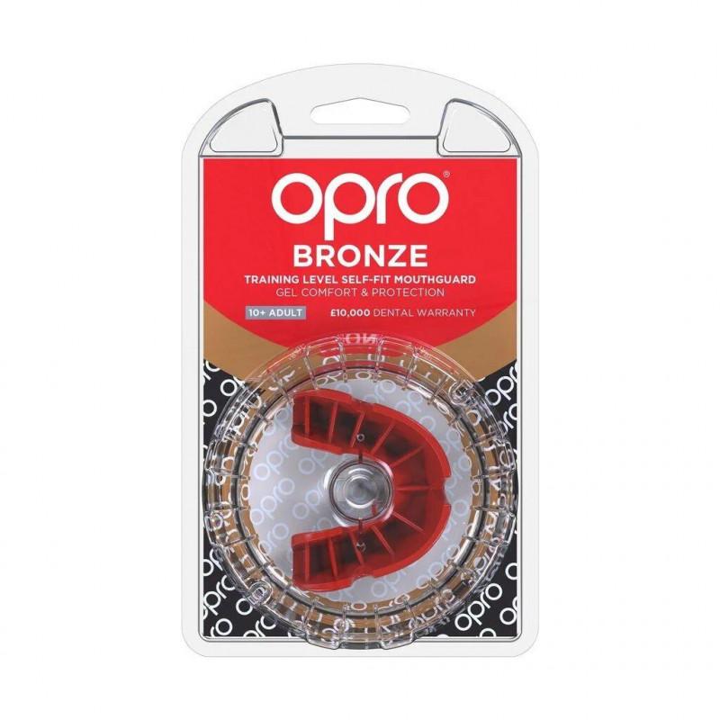 Боксерська капа OPRO Bronze Red (01794) фото 5