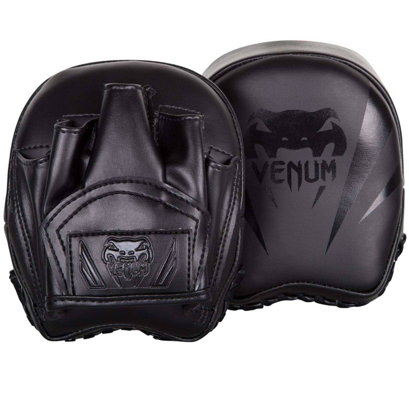 Лапы Venum Elite Mini Focus Mitts Black/Black (02008) фото 1