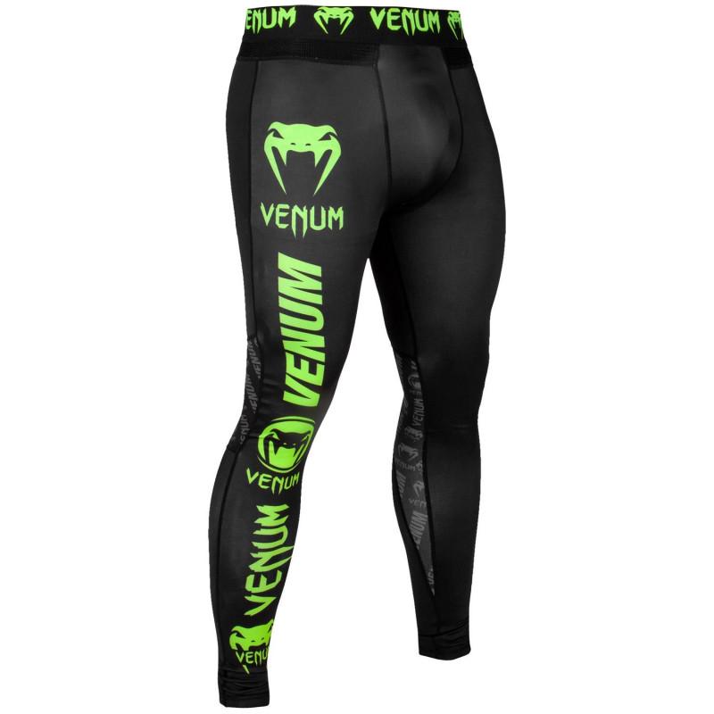 Легінси Venum Logos Tights Black/Neo Yellow (01727) фото 3