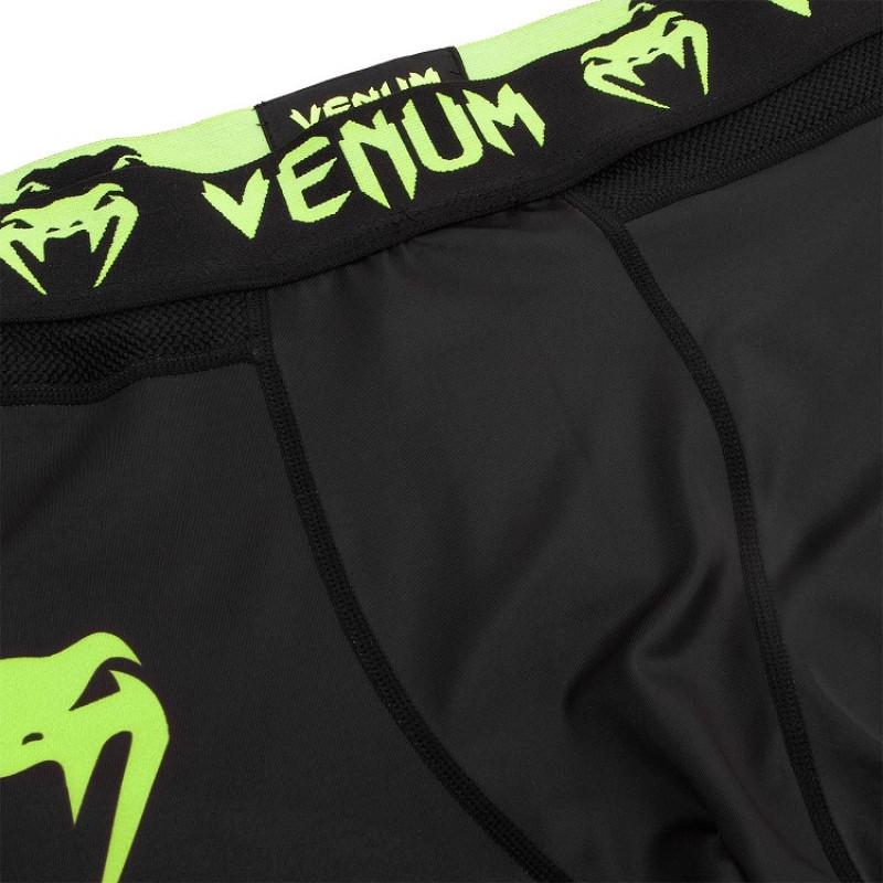 Легінси Venum Logos Tights Black/Neo Yellow (01727) фото 5