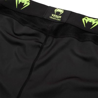 Легінси Venum Logos Tights Black/Neo Yellow (01727) фото 6