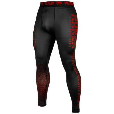 Леггинсы Venum Signature Spats Black/Red (01743) фото 1