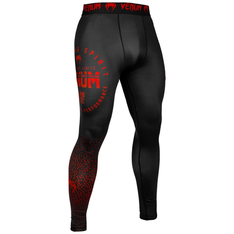 Леггинсы Venum Signature Spats Black/Red (01743) фото 3