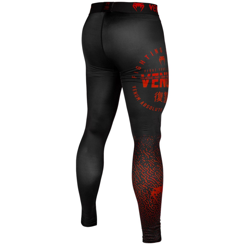 Леггинсы Venum Signature Spats Black/Red (01743) фото 2