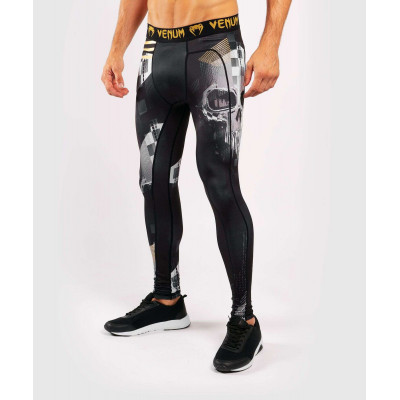 Компрессионные штаны Venum Skull Tights Black (01958) фото 2