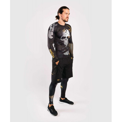 Компрессионные штаны Venum Skull Tights Black (01958) фото 9