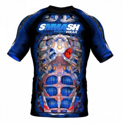 Рашгард короткий рукав SMMASH FIGHT MASCHINE ELECTRIC (00633)
