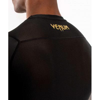 Рашгард Venum G-Fit Rashguard Short Black/Gold (02143) фото 5